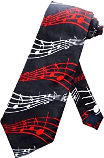 Steven Harris Holiday Music Staffs and Notes Necktie - Black - One Size Neck Tie
