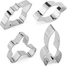Yunko 4pcs Fly to Space Stainless Steel Cookie Cutter Fondant Cutter Cup Cake Decorating Tools Spacecraft Rocket Plane UFO