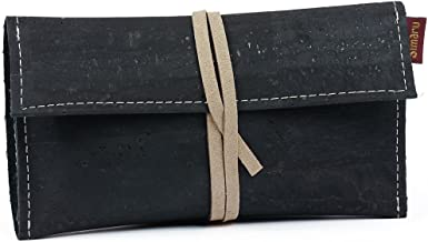 with Filter Paper and Lighter Compartment Made of Cork//Cork Leather SIMARU Tobacco Pouch for 30 g Tobacco Pouches Revolving Tobacco