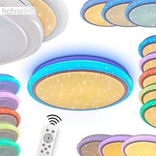 Lámpara LED de techo Bermeo de metal con cambio de color y mando a distancia - RGB Iluminación beliebig controlables – Blanca Principal iluminación puede entre 3000 y 6400 Kelvin Cambiar