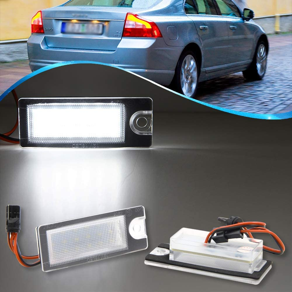 Pair 18 Ranking TOP20 SMD LED Rear Max 68% OFF Number License for Plate Light Volvo XC V70