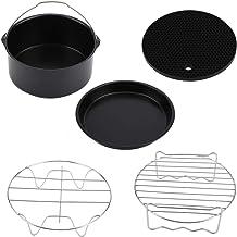 Conjunto de acessórios para fritura, conjunto de 5 peças/conjunto de acessórios para fritadeira a ar com forma de pizza, b...