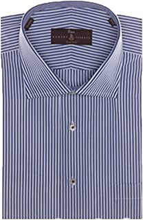 Blue and White Stripe Estate Sutter Classic Fit Dress Shirt