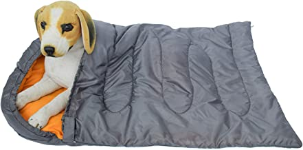 ONELIGHT Dog Sleeping Bag - Camping Dog Bed - Extra Durable Slightly Waterproof Cushion Bed -Travel Outdoor Dog Bed for Ca...
