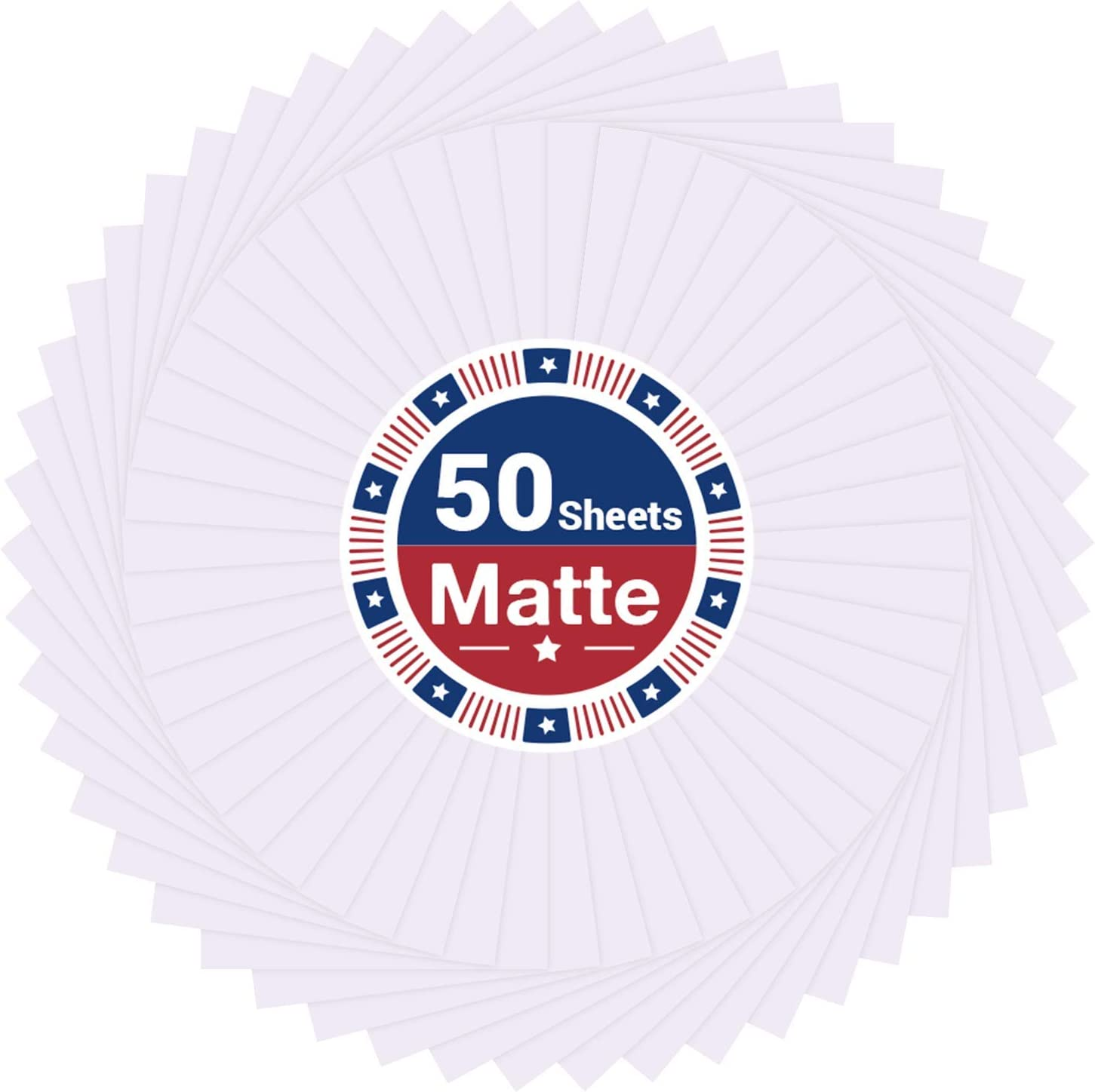 Printable Vinyl Sticker Paper for Price reduction Inkjet Free shipping / New - 50 Printer and Laser