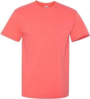 mens Heavy Cotton 5.3 oz. T-Shirt(G500)-CORAL SILK-XL