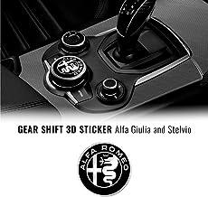 Dasorende Alliage DAluminium de Voiture Bouchon de R/éServoir de Carburant Couverture pour Alfa Romeo Giulia Stelvio 2017-2020 Rouge