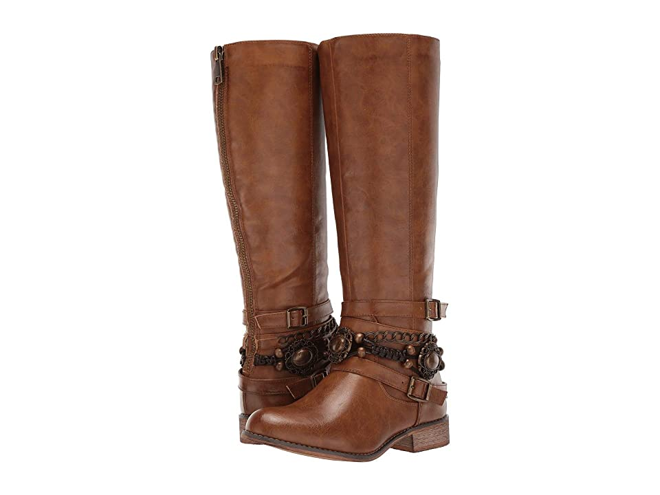 Roper Penny (Burnished Tan Faux Leather) Cowboy Boots