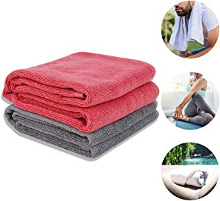 "NIcool Sports Towel, 43""x13.75"" Cotton Fabric Gym Towel for Workout, Fitness, Yoga, Pilates, Travel, Camping, Beach, Multi-Purpose, Antibacterial and Quick-Dry"