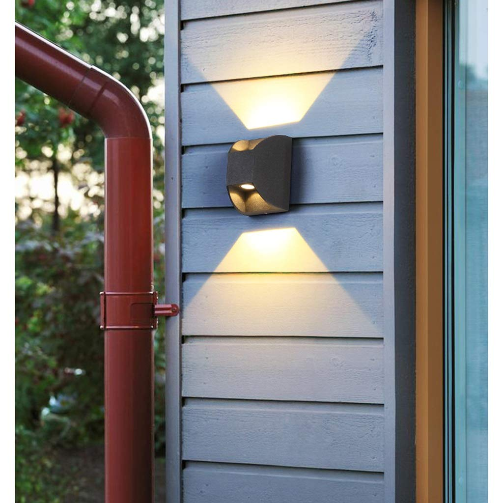 YUN HAI Impermeable Inicio Foco LED Lámpara de Pared para jardín Lámpara de Pared Decorativa antirust para Sala de Estar Piscina Estacionamiento Garaje Aircase Pasillo Entrada (Color : A): Amazon.es: Hogar
