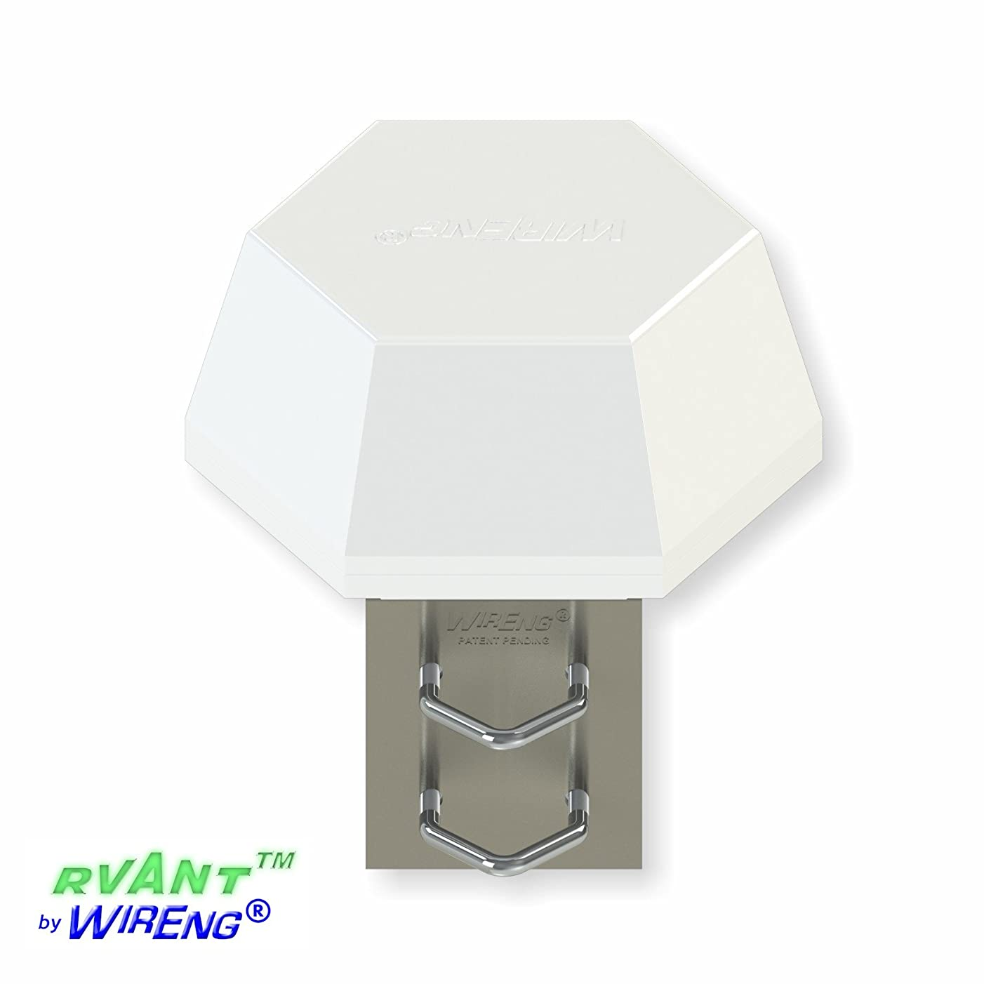 RVAnt-Boost? Antenna for Verizon U760 Modem RV/Truck/Railway Omni Industrial-Strength with DEP? Data-Enhancing Polarization? Made with Stainless Steel and Fiberglass