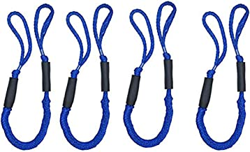 Jranter Pack of 4 Bungee Dock Lines for Boat Mooring Rope