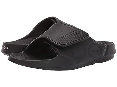 OOFOS OOahh Sport Flex (Matte Black) Running Shoes