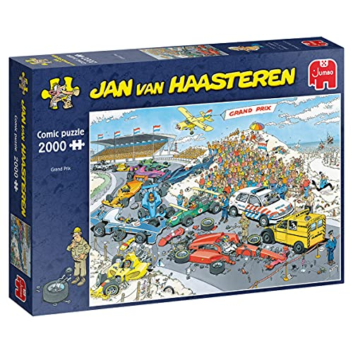 Jumbo Puzzles 19097 Jan Van Haasteren-Die Erfinder Show-2000 Teile Puzzlespiel, Mehrfarben