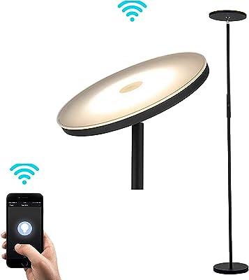 Rivet Modern Arc Floor Lamp With Bulb And Fabric Shade 69