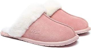UGG Slippers Women Wool Rosa Australian Premium Soft Sheepskin Wool Winter Home Cozy Slippers For Women