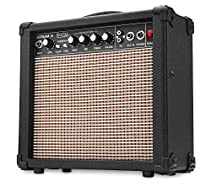 Rocktile Scream 15 Gitarrenverstärker Mini Combo Amp (15 Watt Amplifier, 2-Kanäle, Portable, AUX-In für MP3/CD, 3-Band Equalizer, Kopfhöreranschluss)
