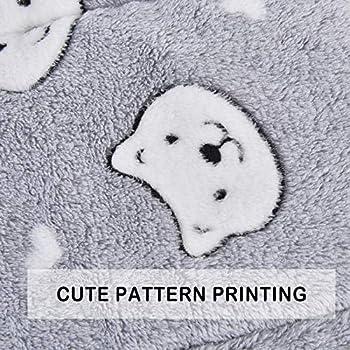 Vejaoo Flanelle Douce et Chaude Couverture Chaude, épaisse Couverture de Chien Tapis de Chat XZ006 (89 * 68 CM, Grey Bear)