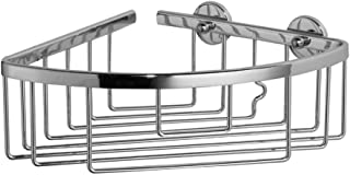Nie Wieder Bohren Lu200 1.75 x 0.5 x 7cm Luup Glass Shelf withNever Drill Again Fastening Technology Chrome Plated