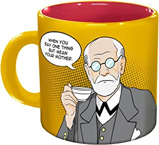 The Unemployed Philosophers Guild Freudian Sips Coffee Mug - Undo Years of Repression While You Drink Your Coffee - Comes in a Fun Gift Box