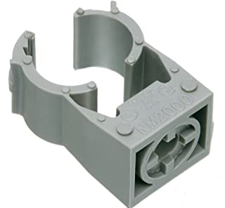 Arlington NM2005-100 Gray One-Piece Non-Metallic UV-Rated Quick-Latch Pipe Hanger, 100-Pack, 1/2-Inch RIGID