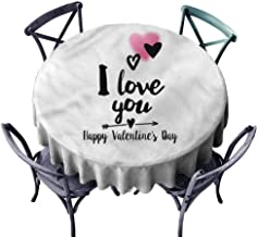 HOMEDECORATIONS Romantic,Dinning Tabletop Decor,Happy Valentines Day,Diameter 36