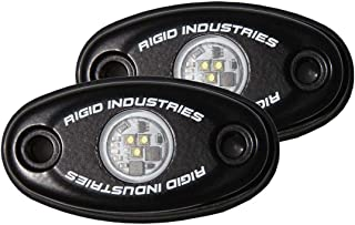 Rigid Industries 482033 A-Series, Cool White, Black Billet Aluminum Housing, Rock Low Power, LED Light Pair, 2 Pack