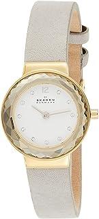 Skagen Leonora Women's White Dial Leather Analog Watch - SKW2778