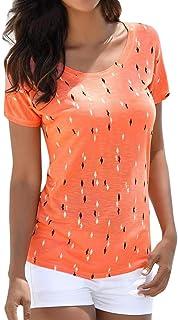 Amazon.es: tops mujer cortos - Naranja