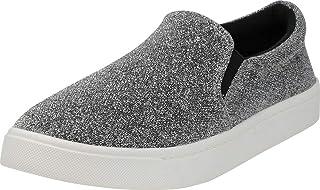 Cambridge Select Women's Classic Casual Closed Round Toe Slip-On Stretch White Sole Flatform Fashion Sneaker