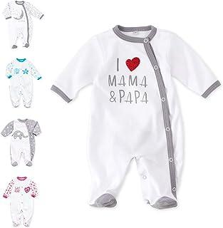 Baby Sweets Unisex Baby-Strampler aus Baumwolle für Mädchen & Jungen/Babystrampler mit Füßen als Langarm Baby Schlafanzug für Neugeborene & Kleinkinder in vielen Größen Gr. 56, 62, 69, 74, 80, 86
