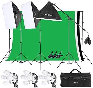 Andoer Iluminación Fotográfica Softbox Kit, Sistema de