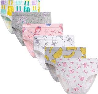 Girls' Soft Cotton Underwear 6-Pack