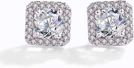 Zircon Earrings, Square Zircon Earrings, Devil's Eye Stud Earrings, Diamond-Studded Circle Blue Eye Diamond Earrings, Small Perfume Drill. (Eye of The Devil)
