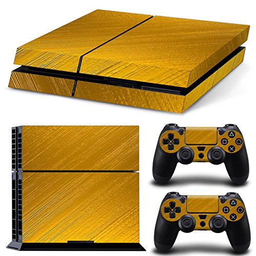 Sony PS4 Playstation 4 Skin Design Foils Aufkleber Schutzfolie Set - Gold Motiv