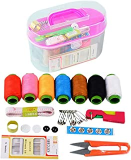 SOLDOUT™ Portable Thread Rolls Multi Purpose Fabric Stitching Tools Manual Sewing Travel PP Sewing Box Sewing Kits Set Clo...