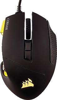 Corsair Scimitar PRO RGB Ratón Óptico para Juegos, 16 000 PPP Óptico Sensor, 12 Botones Programables, Retardo de 1ms Ultrarrápido, Sistema de Control de Macro, Retroiluminación LED RGB, color Amarillo