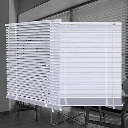 "SEEYE Horizontal Venetian Slat Light Filtering Mini Window Blinds Cellular Shade Anti-UV Aluminum Easy to Install 20"" W x 64"" L,White"