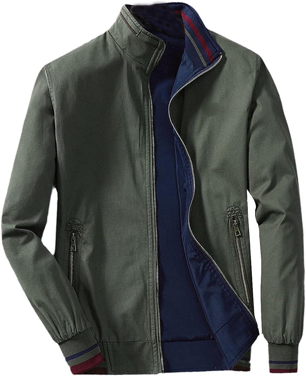 Autumn And Winter Cotton Jacket Men's Casual Jacket Stand Collar Zipper Jacket