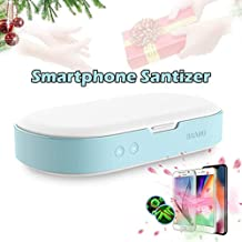 Smartphone Sanitizer Cleaner, Cell Phone Cleaners UV Light Sanitzier Box UV Cell Phone Cleaner Sanitizer Sterilizer, for All Phones Jewelry Watch,Blue