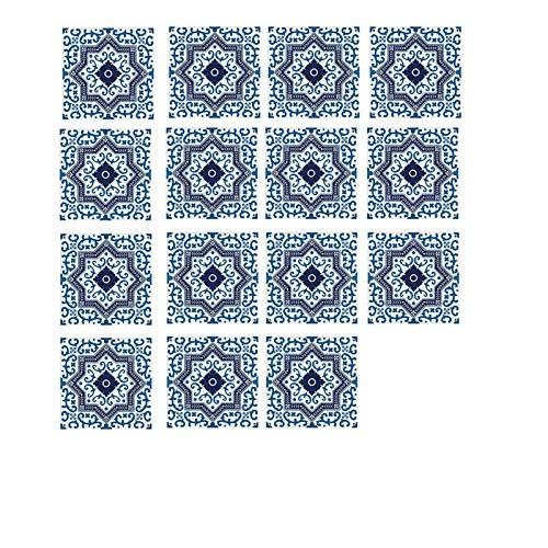 Azulejos Pegatinas, Pegatinas diagonales de Piso, Mesa de Comedor Dormitorio Decoration Pegatinas, Impermeables y Resistentes al Desgaste. (Color : 040, Size : 8 * 8cm)