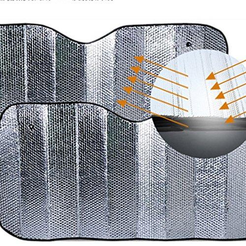 KOET Auto Frontscheibe Sonnenschutz, Alufolie Windschutzscheibe Sonnenschirm Sonnenblende Abdeckung Auto Windschutzscheibe Visier Abdeckung für Universal Autos, Faltbar
