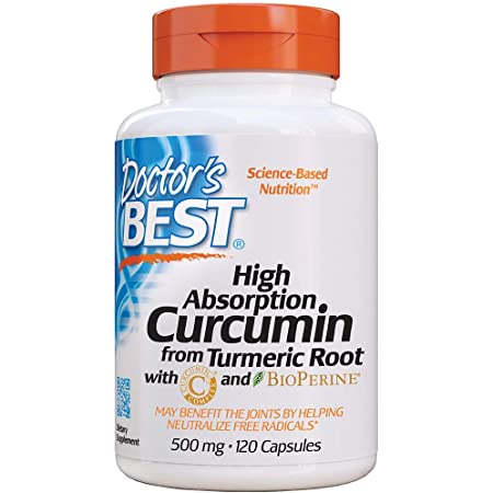 Doctor's Best DRB-00107 High Absorption Curcumin From Turmeric Root with C3 Complex & BioPerine 500mg (120 Capsules)