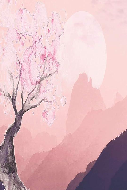ビールコントロール泳ぐNotes: Lined Notebook   120 Pages (6 x 9 inches)   Ruled Writing Journal With A Watercolor Painting Of A Japanese Landscape With Majestic Mountains And Blooming Cherry Blossom Tree Cover
