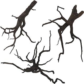 45cm水槽用 流木3本セット(黒色)【AQUASHOP wasabi】 アクアリウム用・水草水槽用流木 水草レイアウト水槽用黒枝流木