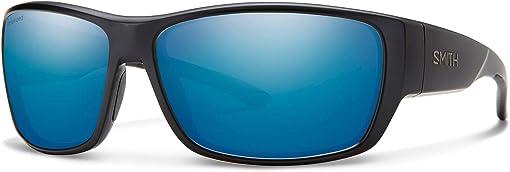Matte Black/Polarized Blue Mirror