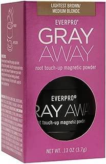 Everpro Gray Away Root Touchup Powder Light Brown / Medium Blonde 0.13 Ounce (4ml)