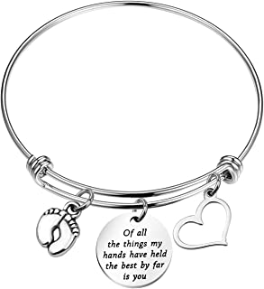 Daughter Bracelet of All The Things My Hands Have Held The Best by Far is You Bracelet Gift for Her