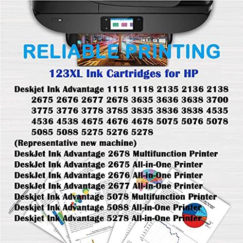 SXCD Cartuchos de tinta 680XL para HP, repuesto para HP Deskjet Ink Advantage 1115 1118 2675 2136 3700 3636 3838 4538 4675 5088 5275 impresora de inyección de tinta negra tricolor 1 ~ negro 1 ~ color