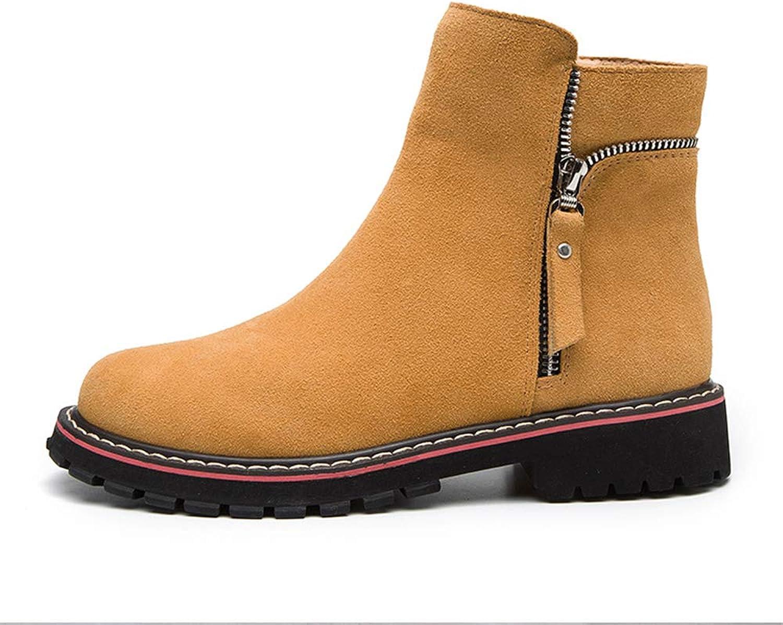 Women's Closed Toe Bootie Low Heel Casual Comfortable Walking Boot